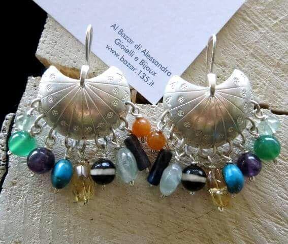 HeartMade Silver sterling earrings multicoloured