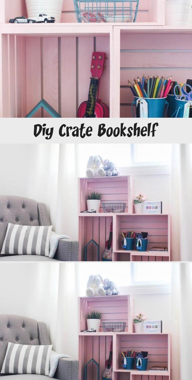 Photo of Diy Crate Bookshelf – Informationsdekor, #bookshelf #crate #Decor #DIY #information #Woodenc …