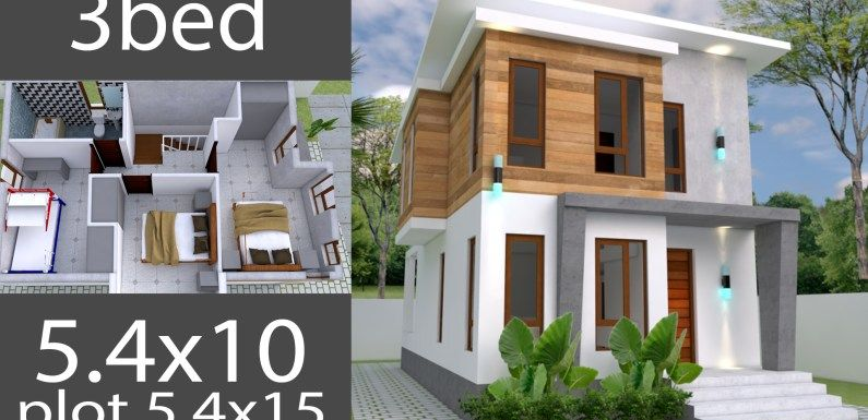 Small Home Design Plan 5 4x10m With 3 Bedroom Small House Design Home Design Plan Home Design Plans