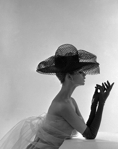Madame Paulette Net Hat, c.1963. by John French