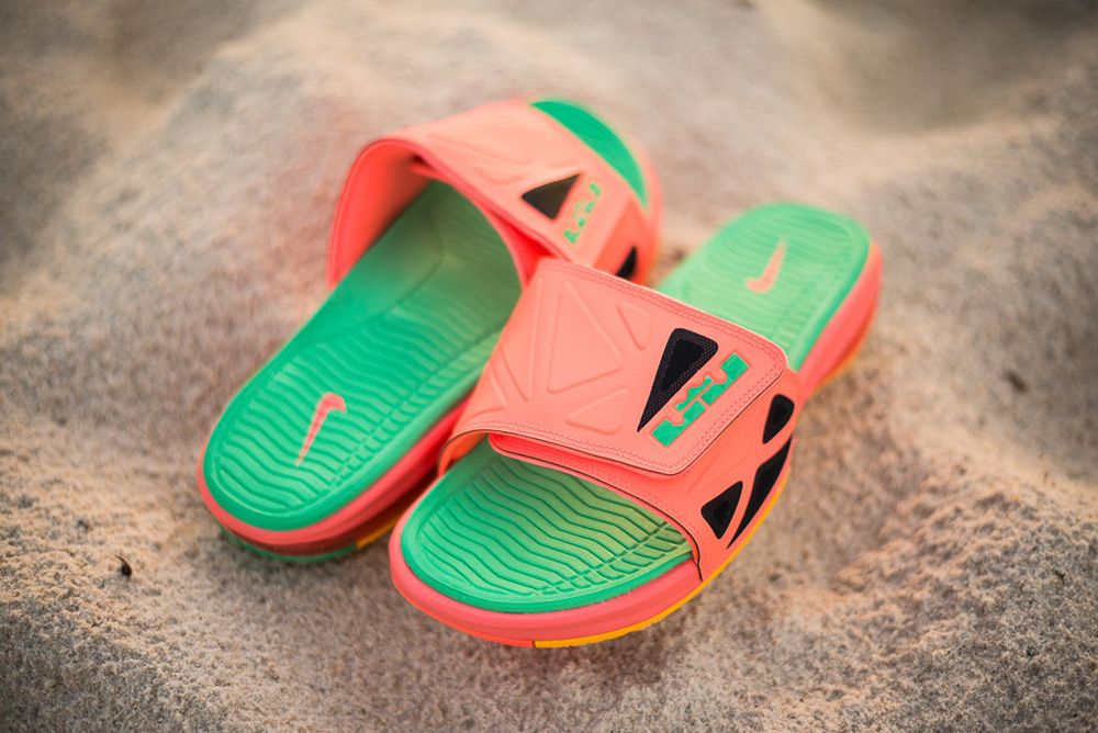 "Nike Air LeBron 2 Slide Elite ""Bright Mango"""