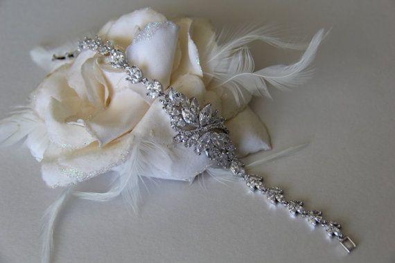 Cubic zirconia bracelet bridal bracelet wedding by terihuang