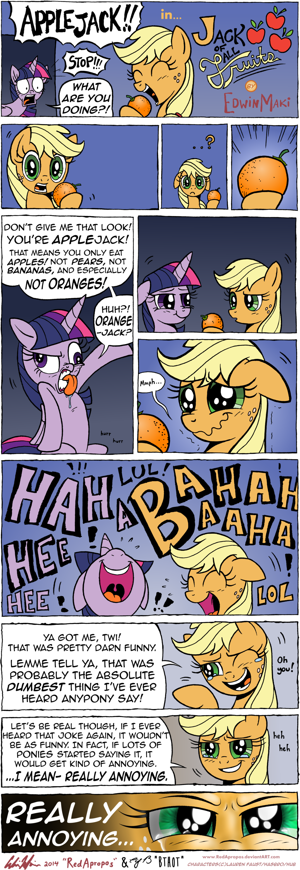 Jack Of All Fruits By Redapropos On Deviantart Mlp My Little Pony My Little Pony Comic My Little Pony Friendship