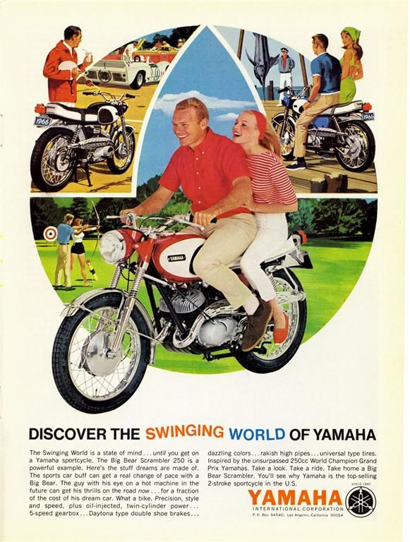 Vintage Yamaha Motorcycle Ad This Is Such A Cool Add