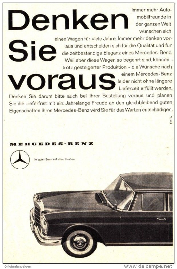 Original-Werbung/ Anzeige 1960 - MERCEDES - BENZ - ca. 130 x 200 mm ...