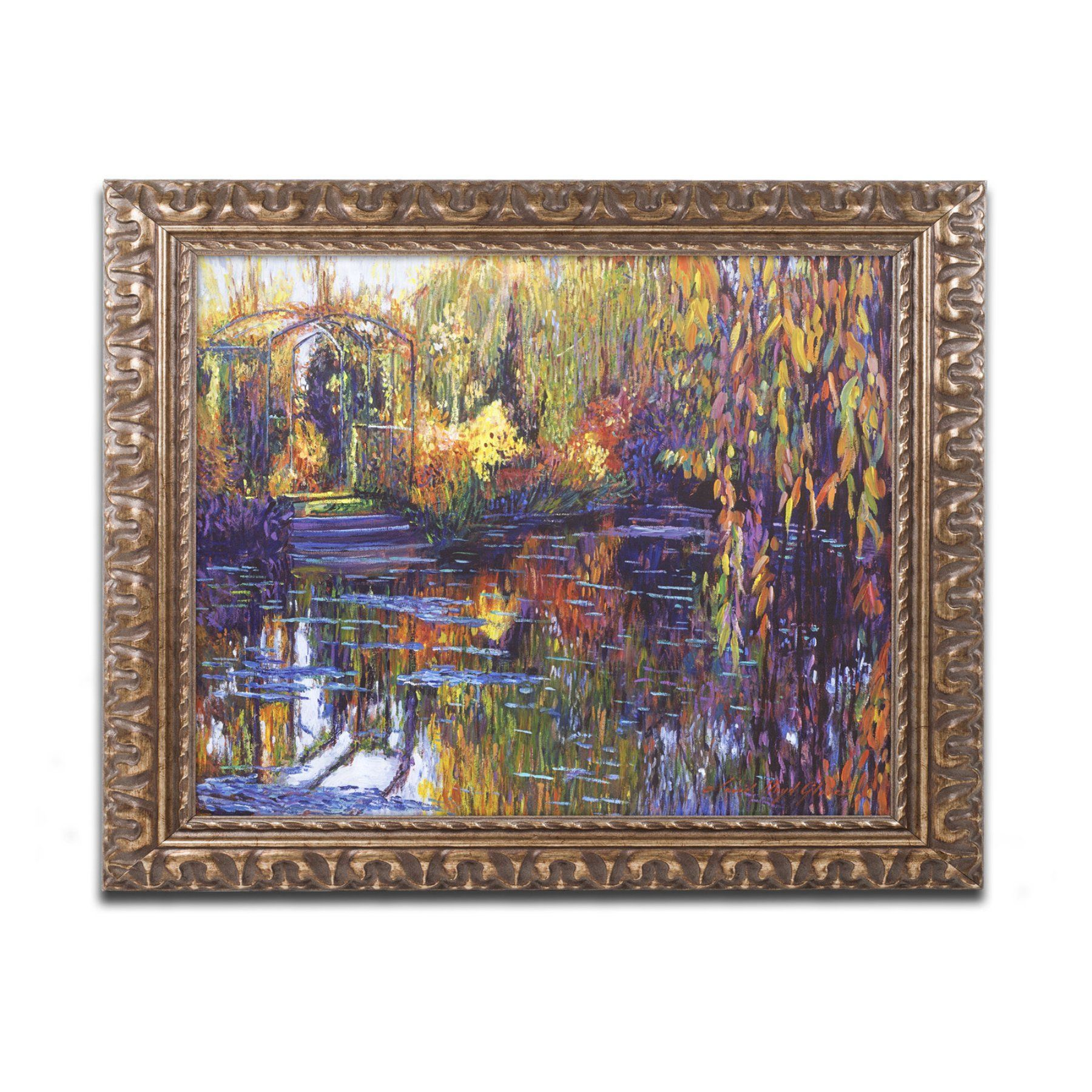 Trademark Fine Art David Lloyd Glover Tapestry Reflection Framed Wall