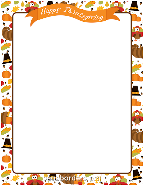 printable happy thanksgiving border use the border in microsoft word or other programs for creating