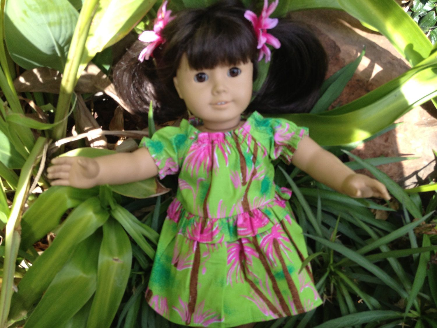 Doll Dress TROPICAL GIRL Fits the American Girl by TheDollysMama