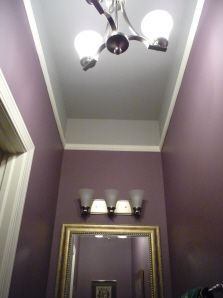 Cathy Chervanick Portfolio Vol 2 10 Foot High Ceiling In Small Powder Room Use Moulding And Bring Color Onto Wall