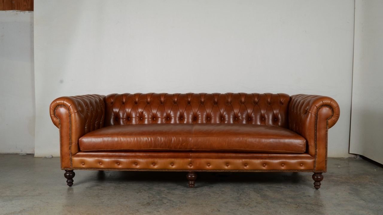 Caramel Leather Classic Chesterfield Sofa For Sale Ready To Ship Red Chesterfield Sofa Red Leather Chesterfield Sofa Sofa Sale