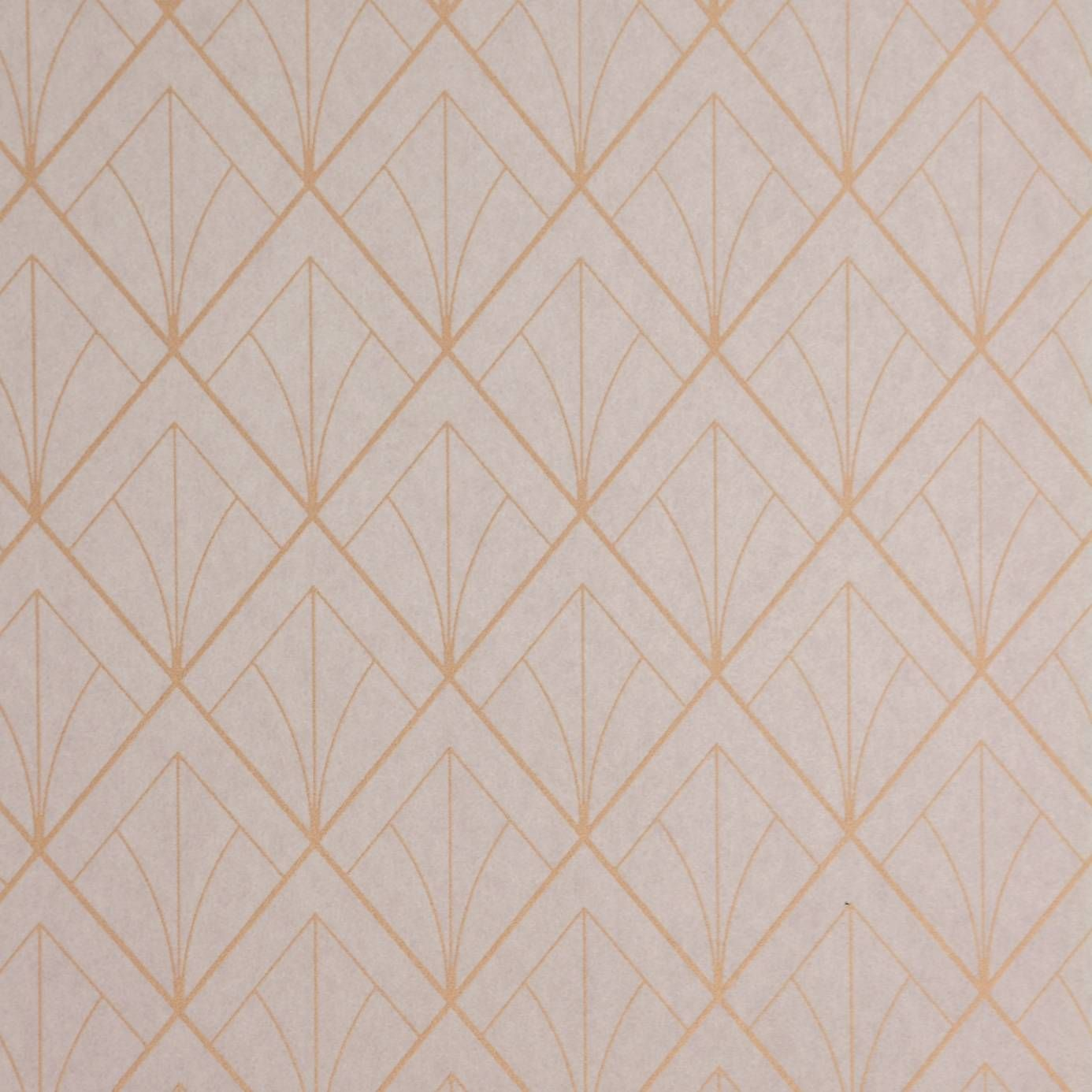 Art Deco Wallpaper Copper  Casadeco Louise Wallpapers Collection