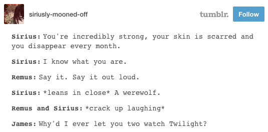 """But what a humorous household to live in anyway. 
