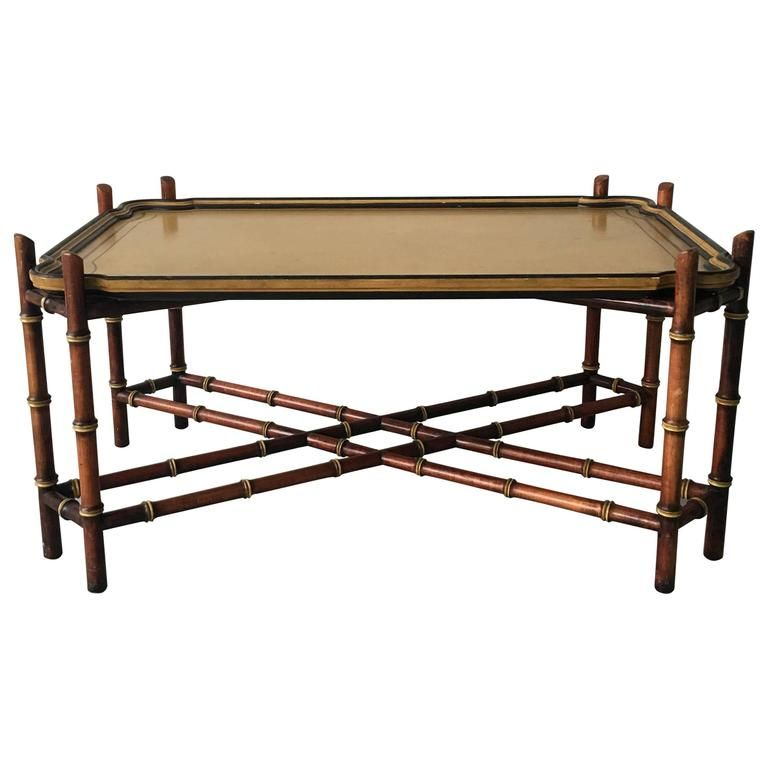 Baker Furniture Faux Bamboo Tray Coffee Table From A Unique Collection Of Antique And Modern