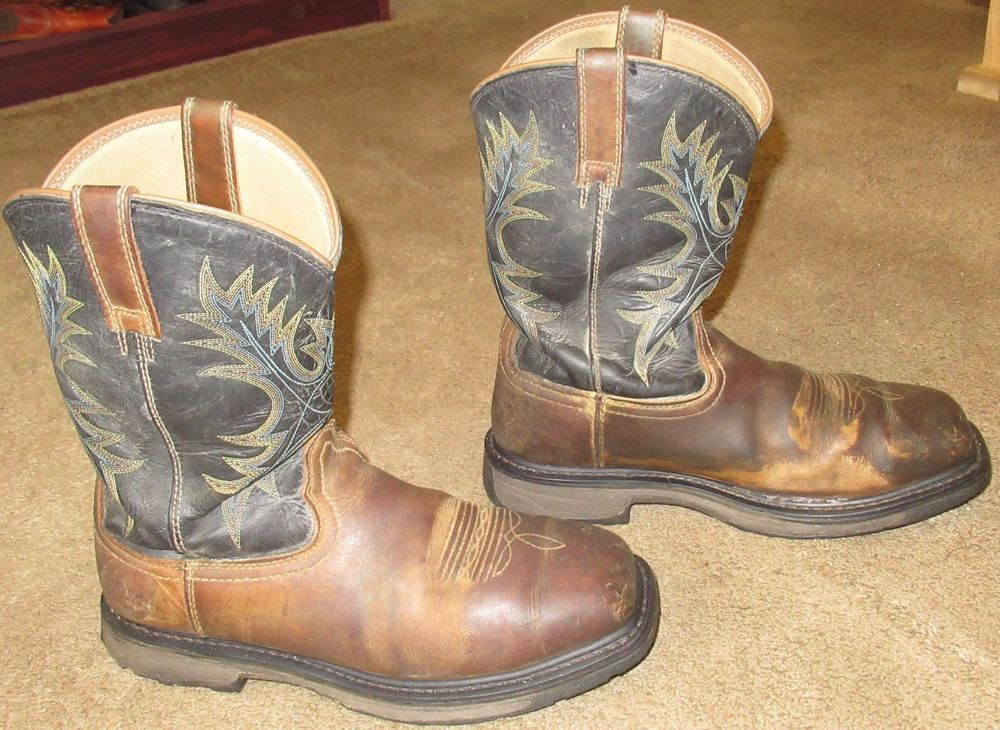 96c83c1dc9c Mens ARIAT Workhog Wide Square Toe H2O Steel Toe Work Boots sz 9 EE ...