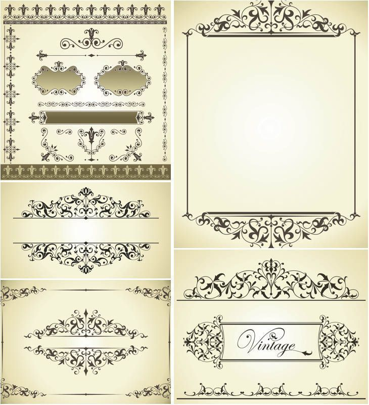 Vintage decorative wedding frames vector download vintage decorative wedding frames vector download junglespirit Images