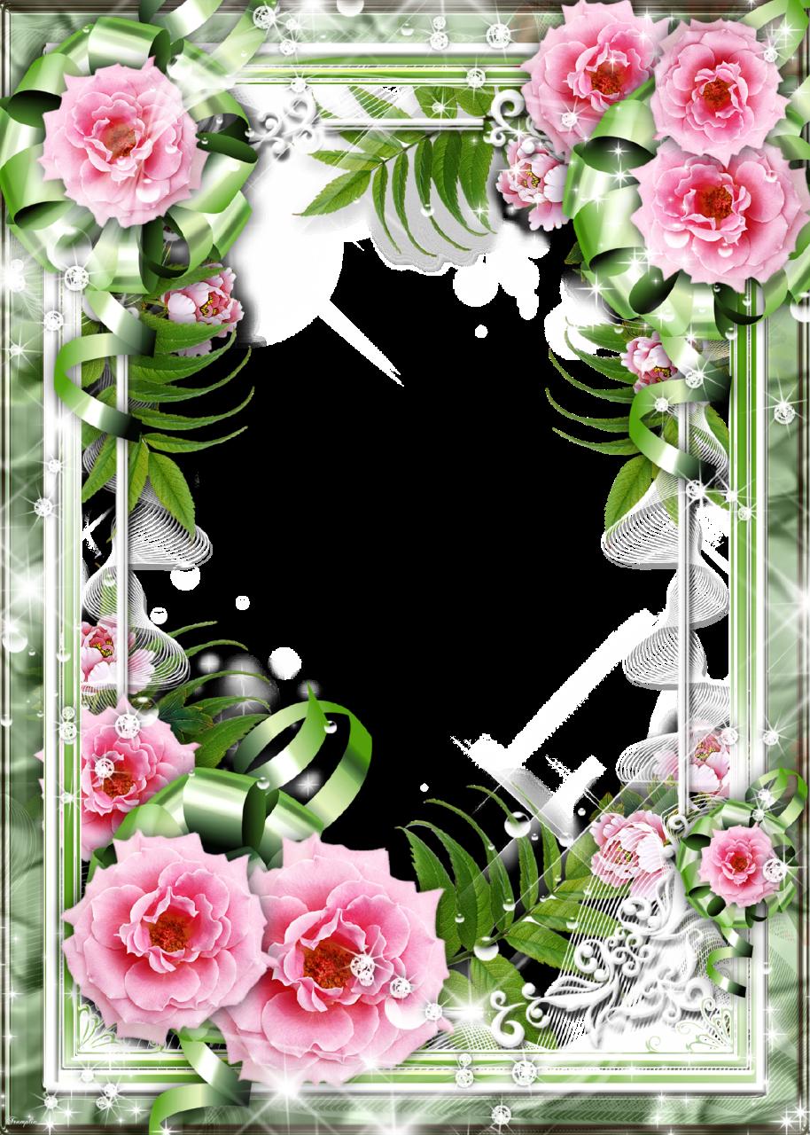 Flower-Photo-Frame-Tea-Rose.png (914×1280) | YAZI FONLARI | Pinterest