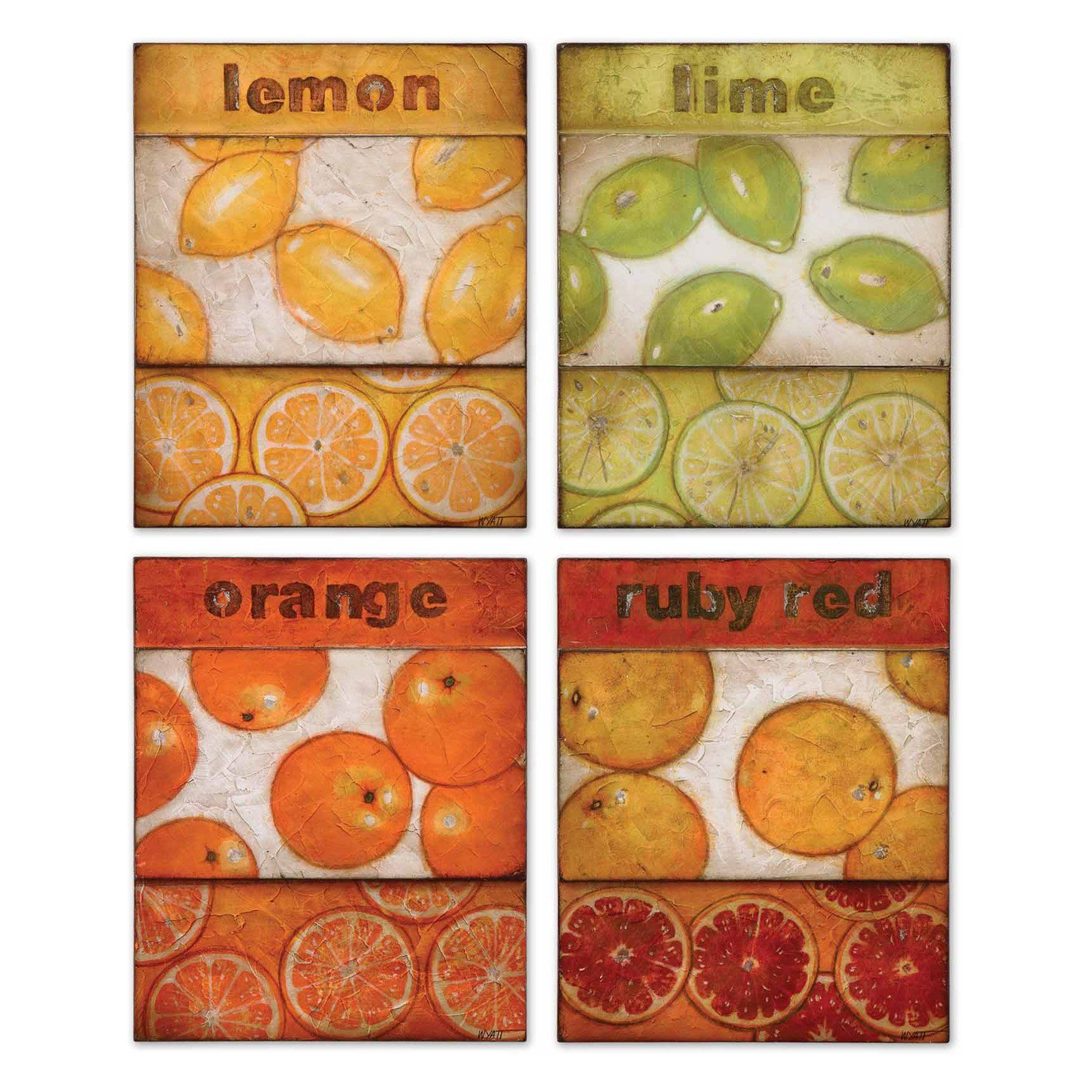 Have to have it uttermost festive fruits wall art set of