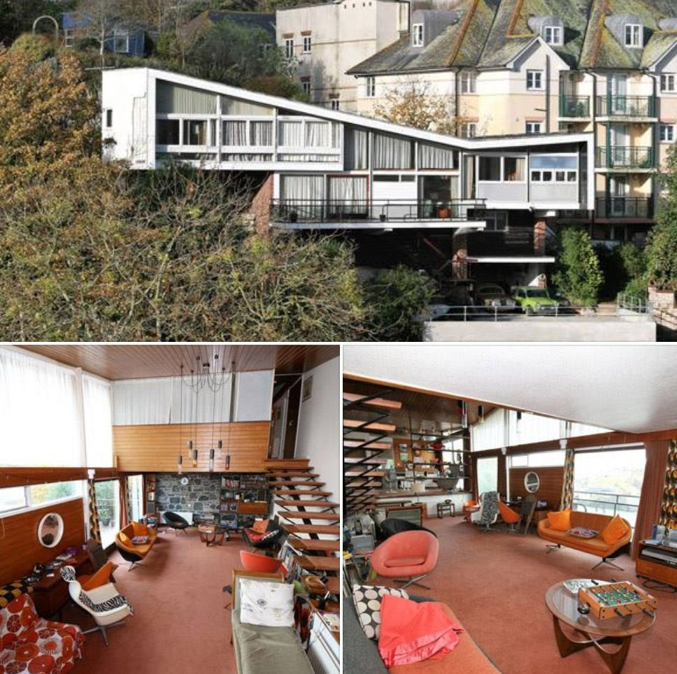 Retro living doesn   get much more than mervyn seale  parkham wood house in brixham devon which has just gone up for sale also rh pinterest