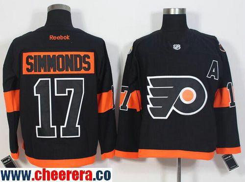Men s Philadelphia Flyers  17 Wayne Simmonds Black 2017 Stadium Series  Stitched NHL 2017 adidas Hockey Jersey 6241d5884