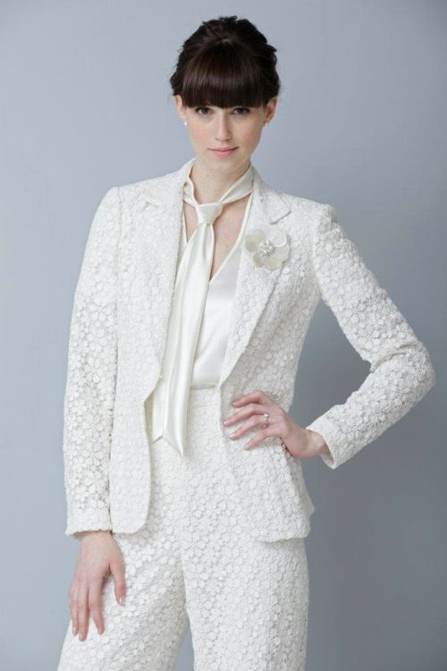 This is a beautiful pant suit perfect for a lesbian for Lesbian wedding dresses and suits