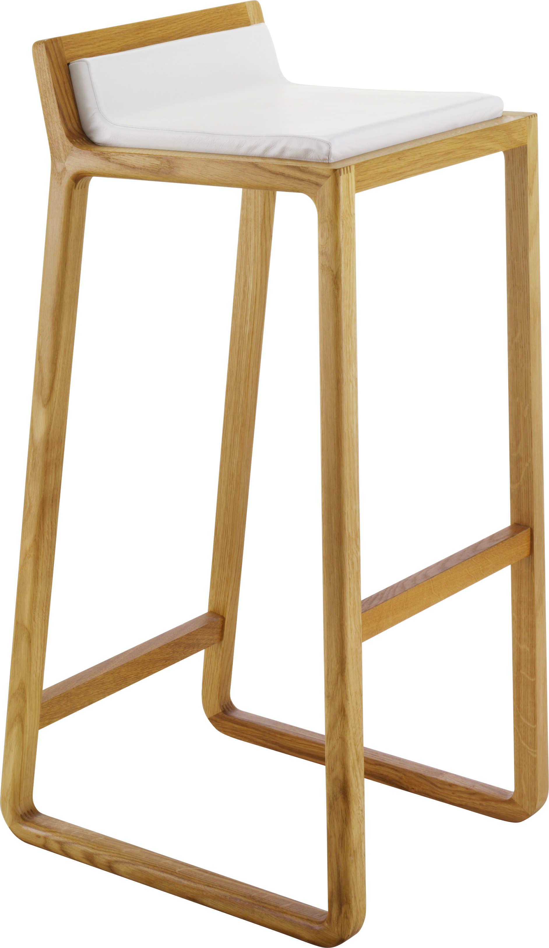 joe tabouret de bar en ch ne massif et cuir bar stool pinterest. Black Bedroom Furniture Sets. Home Design Ideas
