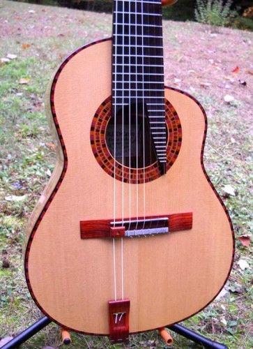 Luthier handmade classical guitar Newport New Hampshire Usa |