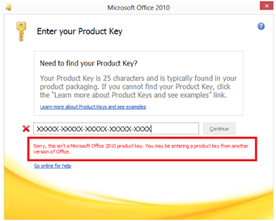 where to enter product key for microsoft office 2010