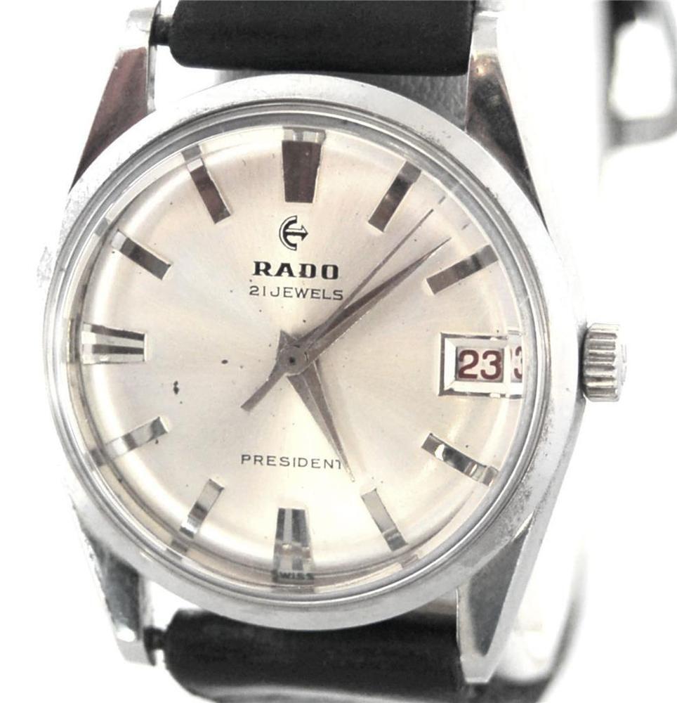 Gents Vintage Rado President Watch Exacto 21 Jewel Movement 950 S Mustc Cool Watches Mens Luxury Wrist Watch