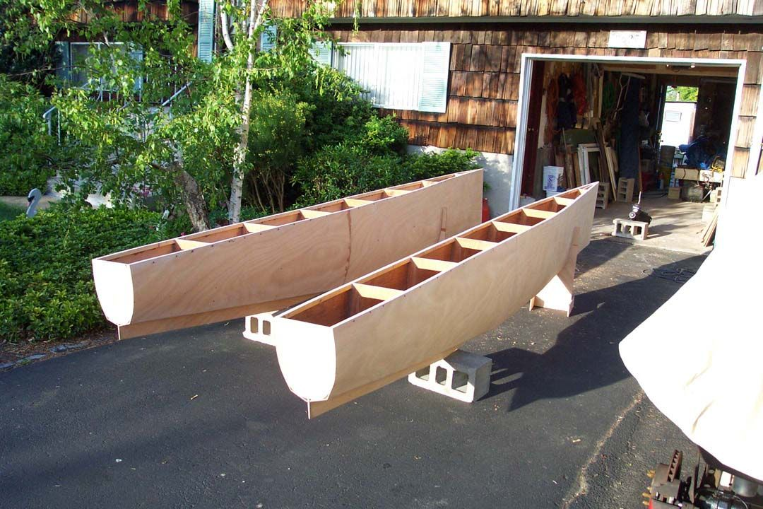 Powercat boat build google search small boat paddle for Small house design made of plywood