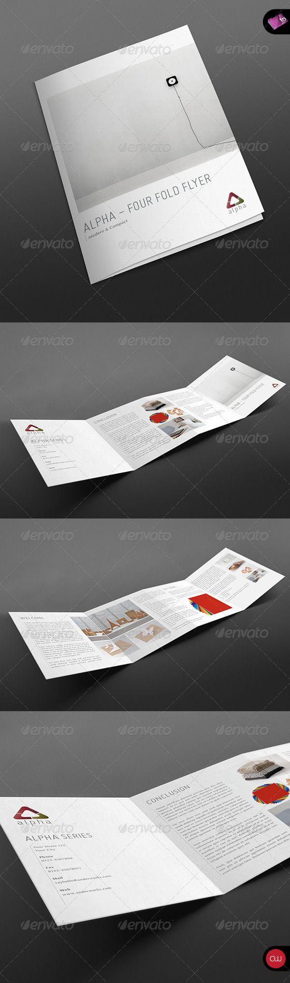 4 Fold Brochure Alpha Series Brochure Template Brochure Folds Brochure