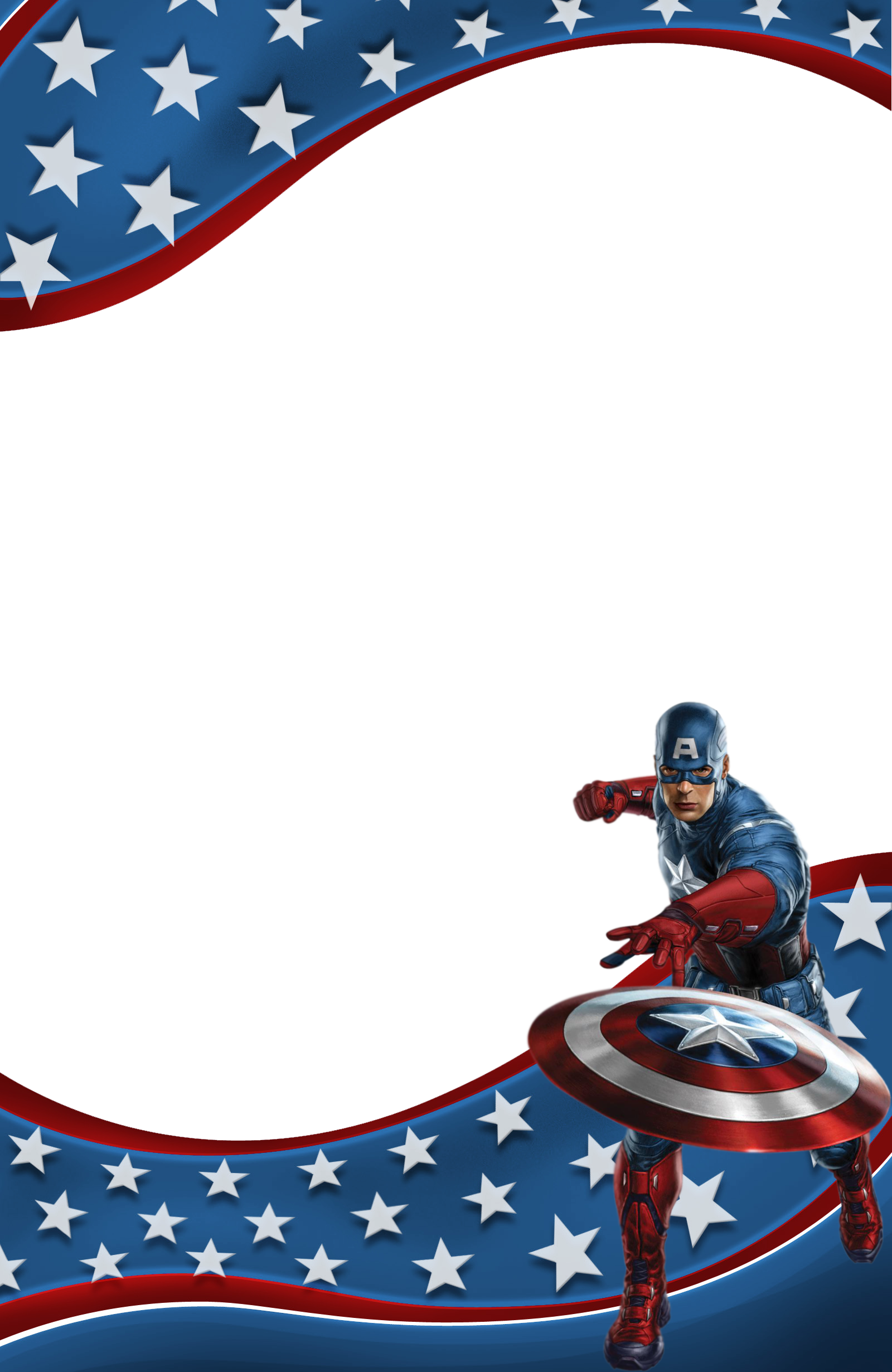 Transparent Kids Frame with Captain America | 2014 FREE | Pinterest | Capt america