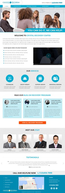 Crystal Recovery Center Website by Shaurya-Arts