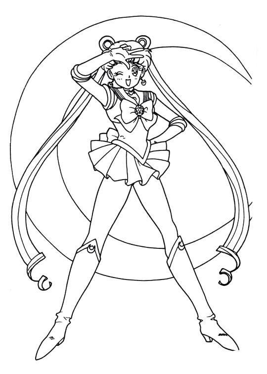 Sailor Moon Series Coloring Pages: Sailor Moon | dibujos para ...