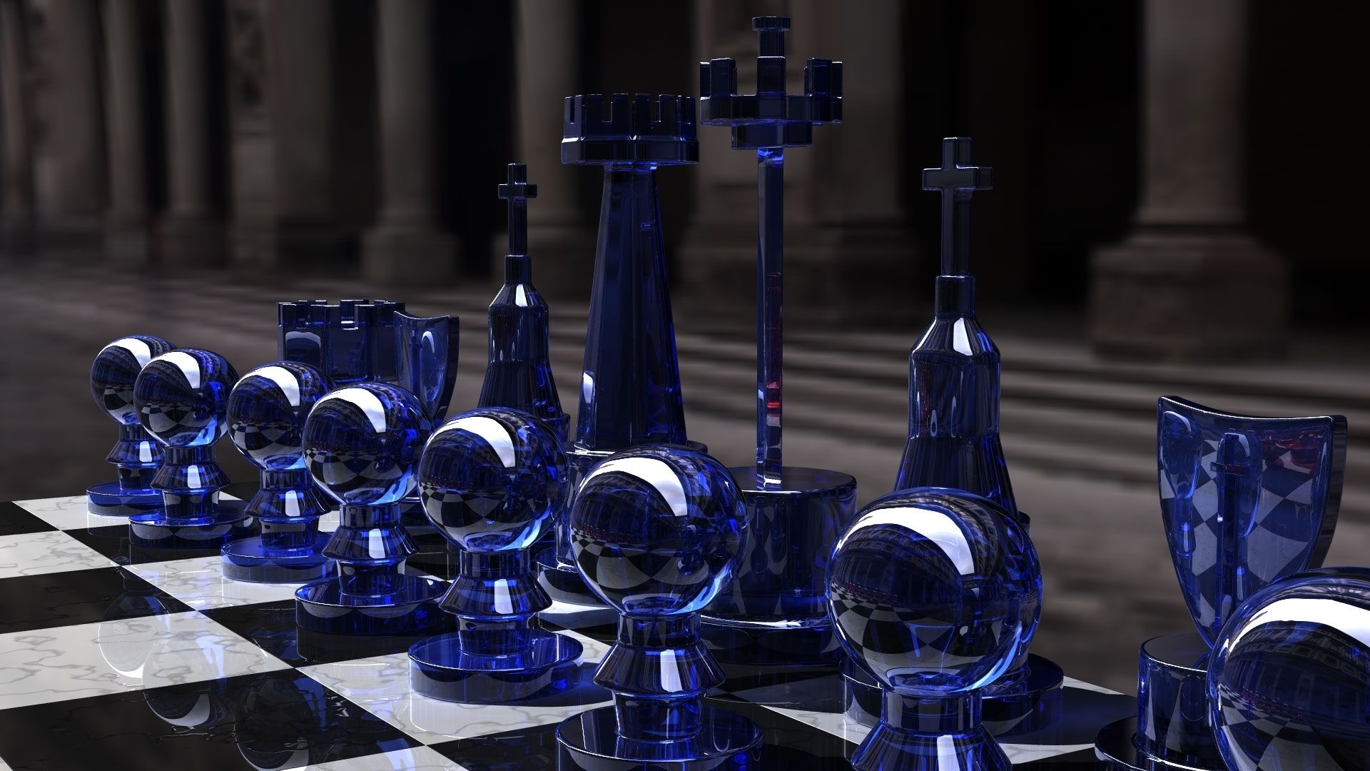 Nice Chess Boards nice glass chess pieces high definition 3d wallpapers for desktop