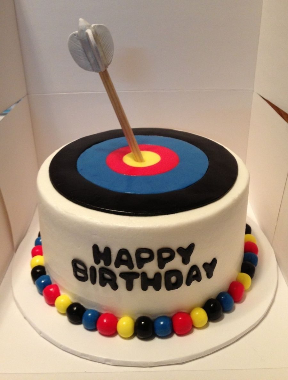 Archery Target Birthday Cake On Central