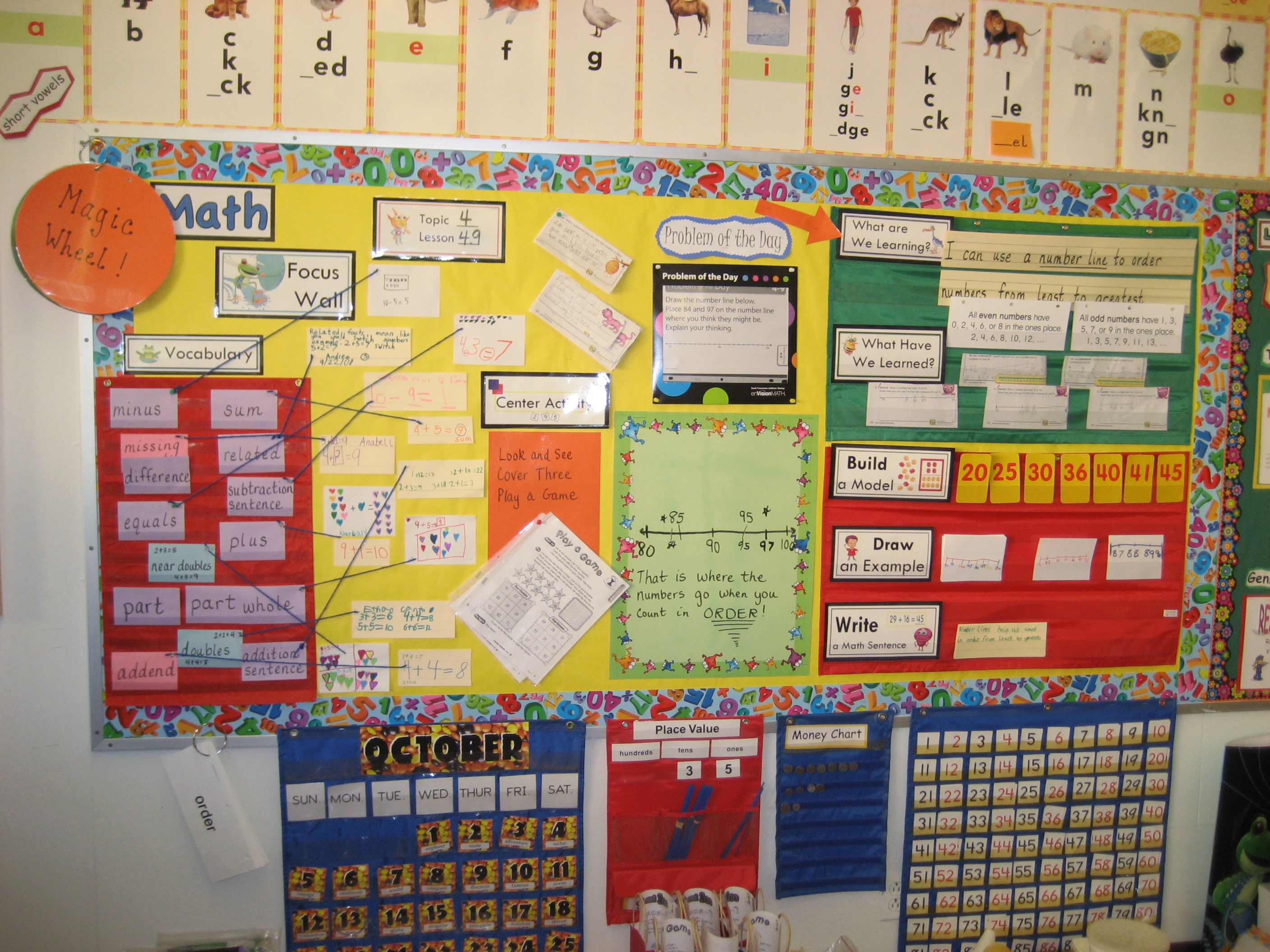 envision math focus wall | My 2nd Grade Sweeties | Pinterest | Math ...