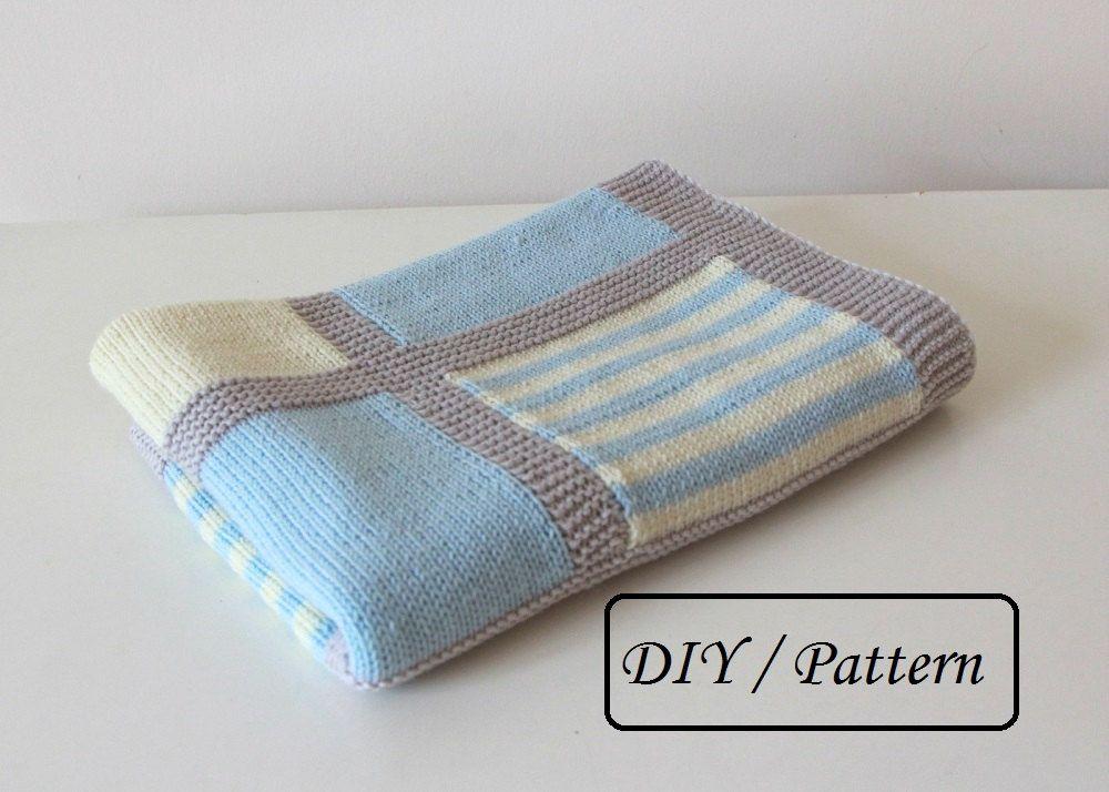 Knit baby blanket pattern / baby blanket pattern / baby blanket ...