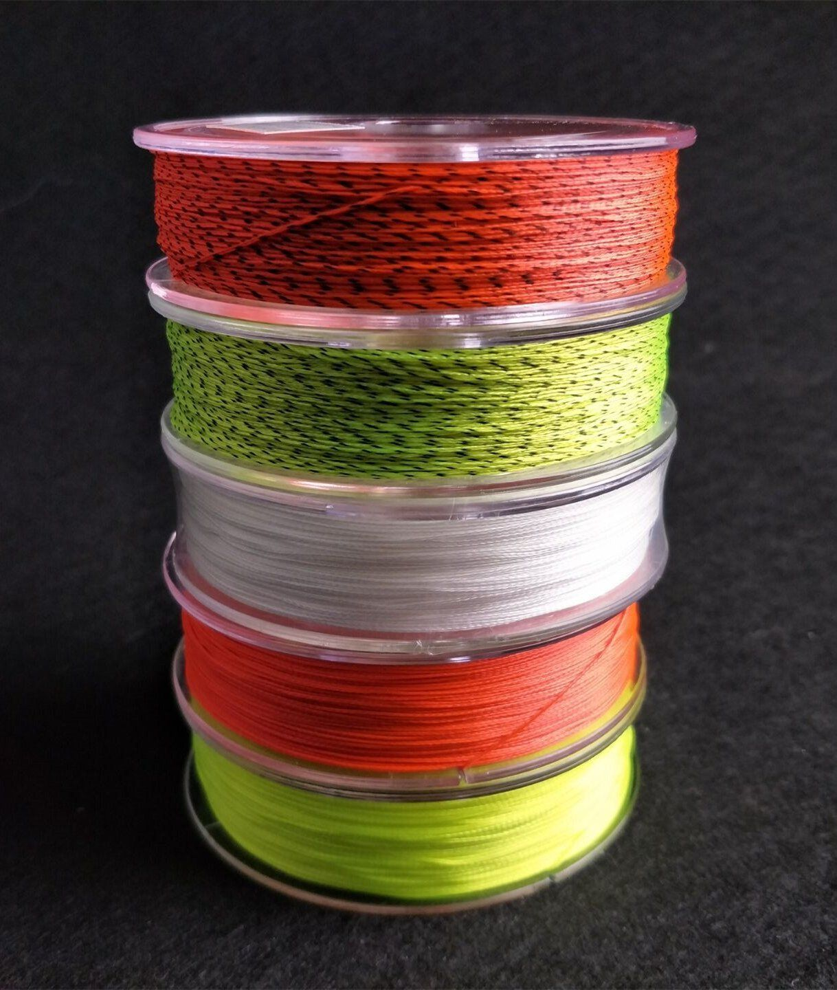 Braided Fly Line Backing with Orange Fluorescent Yellow Color 20lb 109yds