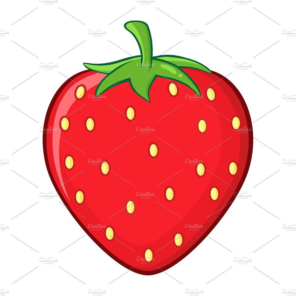Strawberry Fruit Simple Design With Images Strawberry Drawing