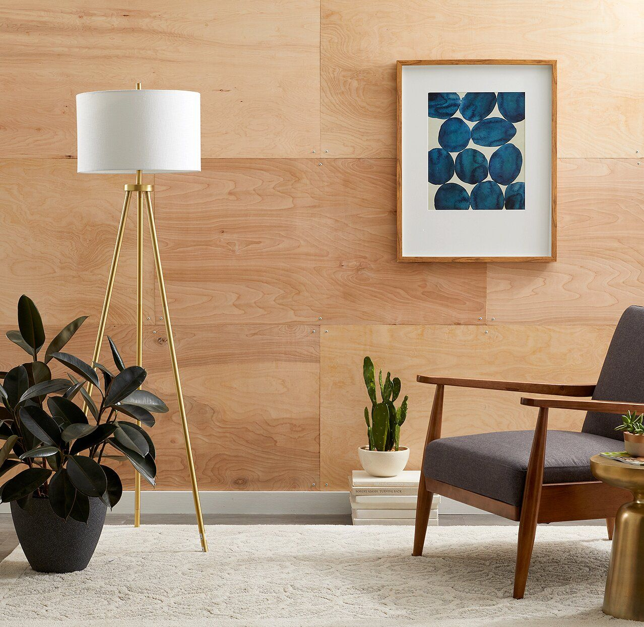 This Plywood Accent Wall Is SO Easy to Make