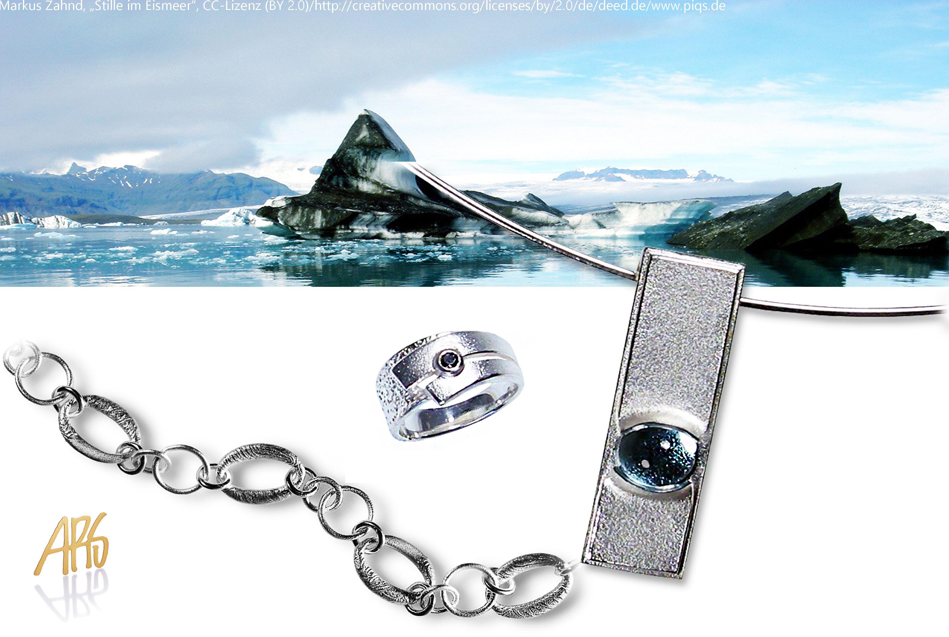 Kühles Pursilber Frauenschmuck -Anhänger mit Ring und Armband
