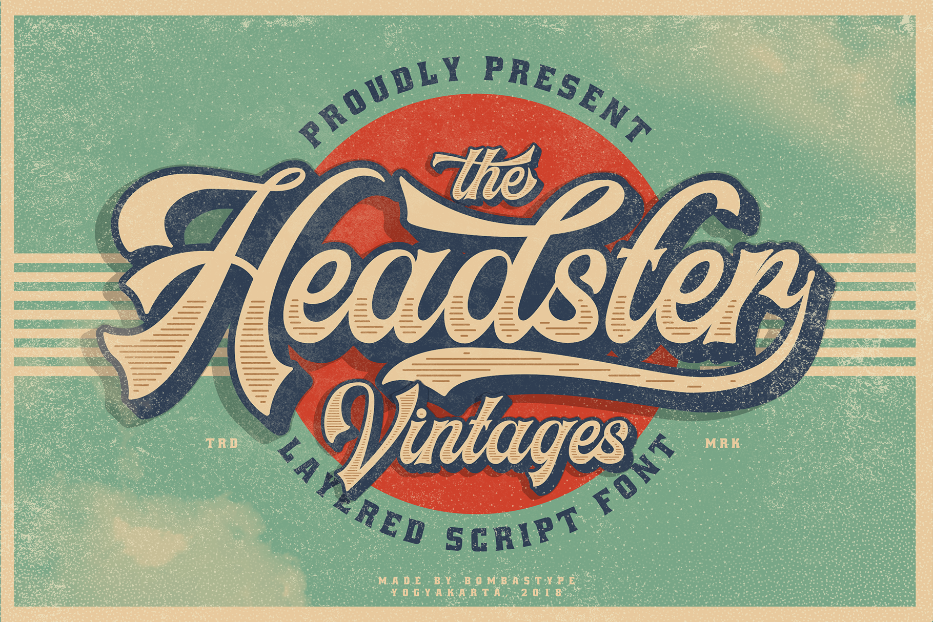 Headster is a bold script typeface, inspired by old vintage label designs. It comes with 5 unique fonts that can...