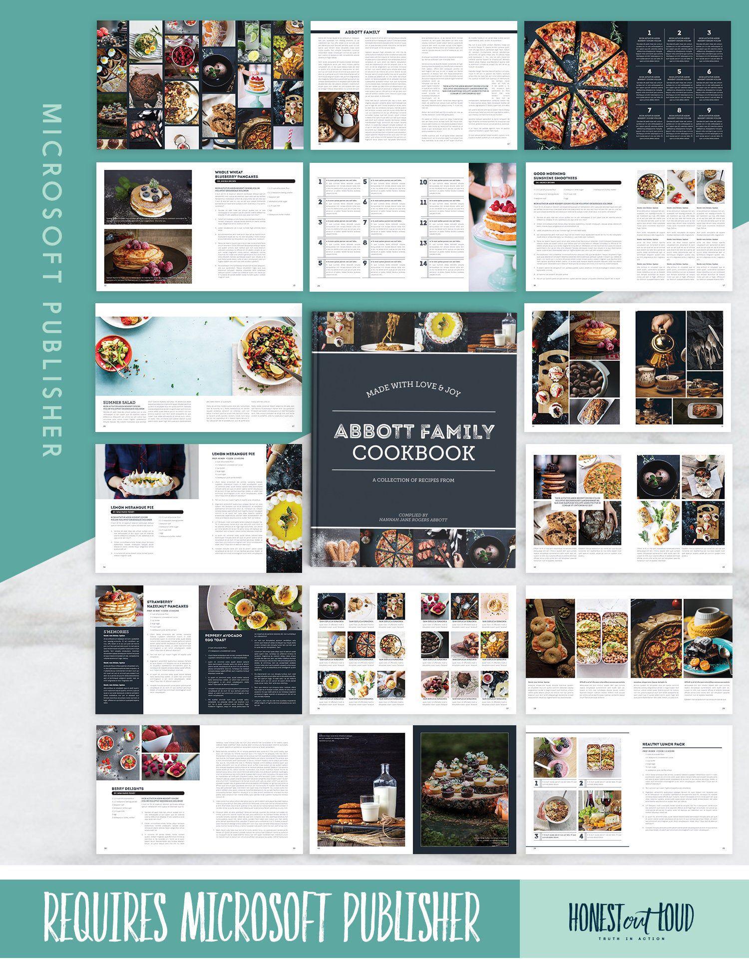 Recipe Template Cookbook Template For Microsoft Publisher Etsy Cookbook Template Recipe Template Microsoft Publisher Microsoft publisher templates free downloads