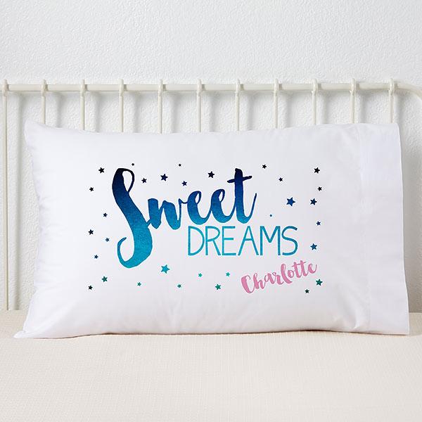 Personalised Mermaid Pillowcase Children Printed Gift Custom Print New