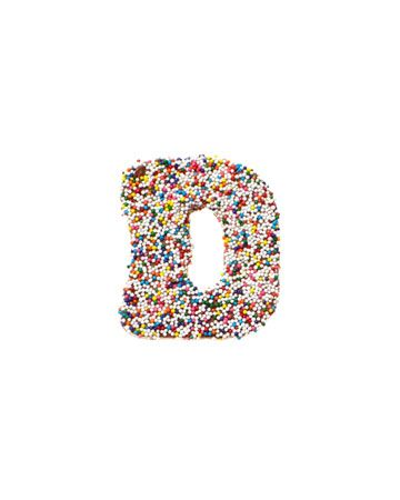 A sweet sprinkled initial from Dylan's Candy Bar