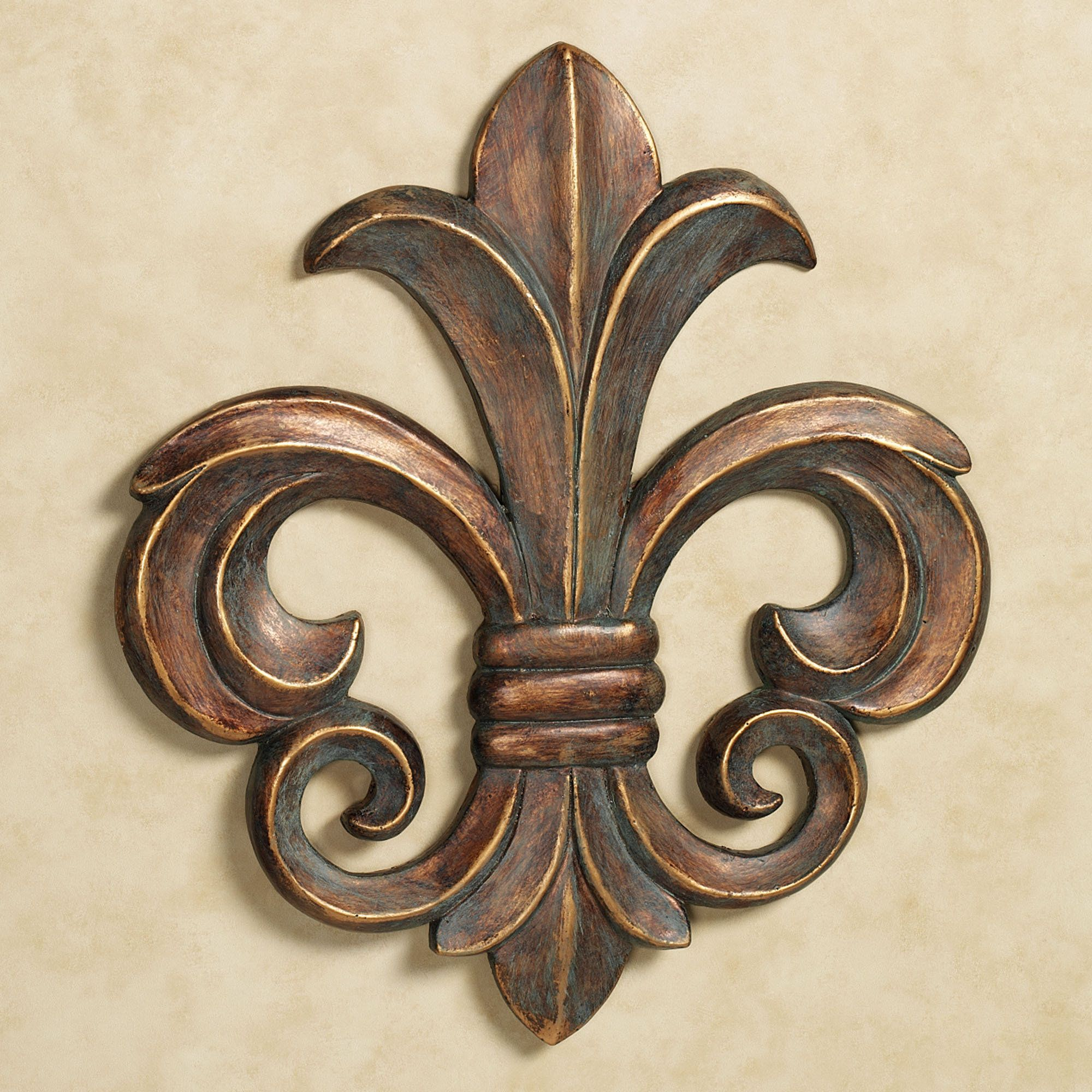 Wall Plaques Louis Vii Fleur Antique Gold Wall Plaque  Walls Gold Walls And Woods