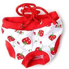 sanitário cachorro fêmea bonito calça curta calcinha cueca listrada fralda para cão de estimação de 2015 por R$15,20