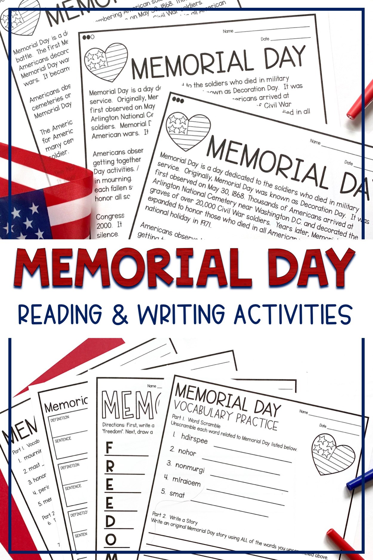 Memorial Day Differentiated Reading Activities