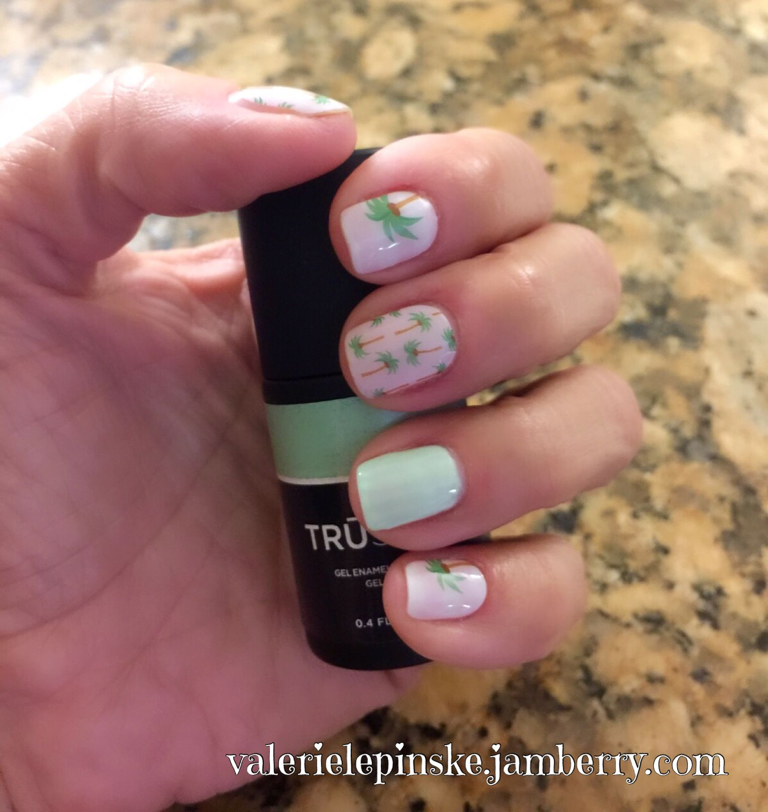 Jamberry Sunset Ave with Scavenger Hunt Trushine accent nail. My ...