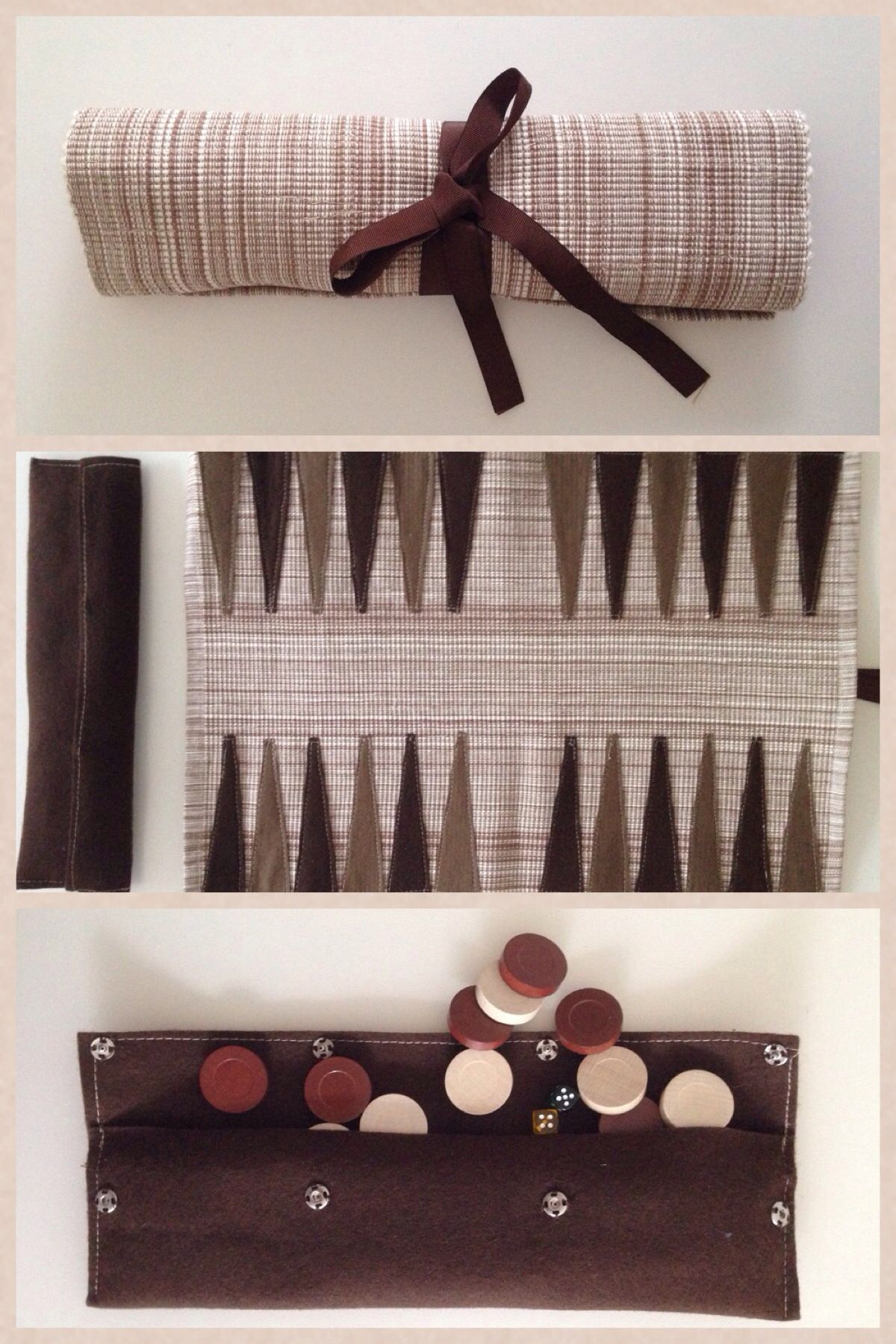 DIY Backgammon- place mat, felt, checkers and dice *** for placemat ...